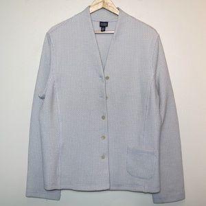 Eileen Fisher Waffle Knit Beige Jacket Cardigan